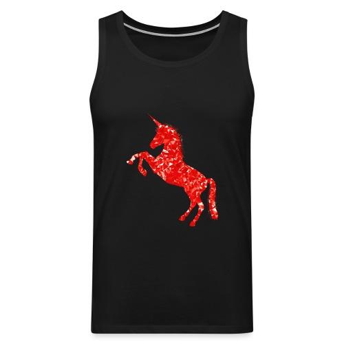 unicorn red - Tank top męski Premium
