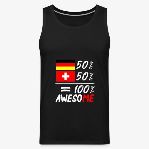 50% Deutsch 50% Schweiz - Männer Premium Tank Top
