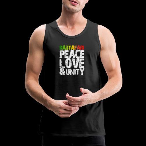 RASTAFARI - PEACE LOVE & UNITY - Männer Premium Tank Top
