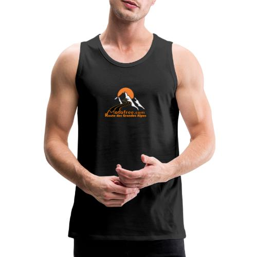 logo motofree orange - Débardeur Premium Homme