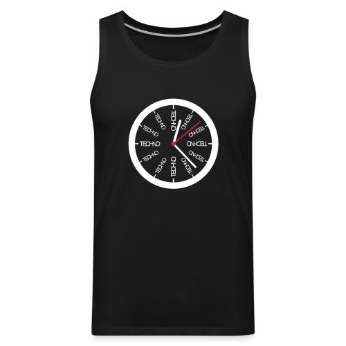 Techno Uhr Clock Rave All Day Clubbing DJ Watch - Männer Premium Tank Top