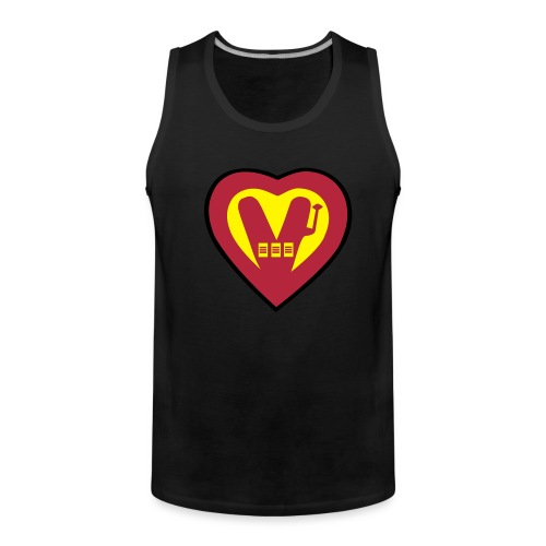 super vegan heart - Men's Premium Tank Top