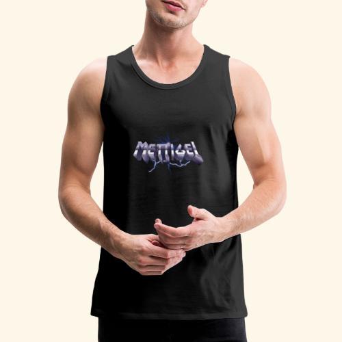 Mettigel T Shirt Design Heavy Metal Schriftzug - Männer Premium Tank Top