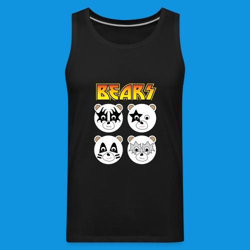 Kiss Bears square.png - Men's Premium Tank Top