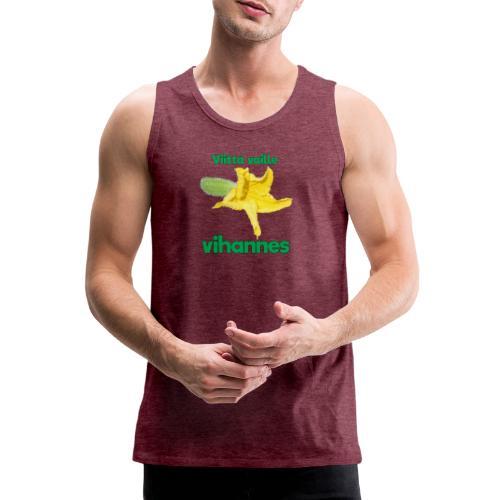 Viittä vaille vihannes, avomaankurkku - Miesten premium hihaton paita