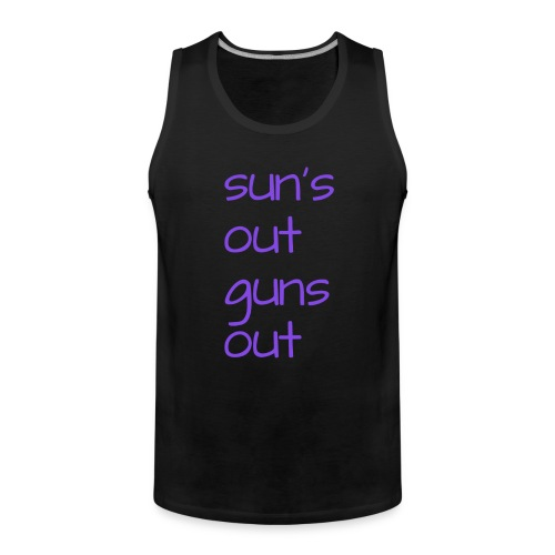 suns out - Mannen Premium tank top