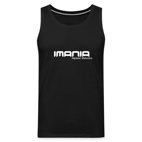Logo Imania schwarz svg - Männer Premium Tank Top