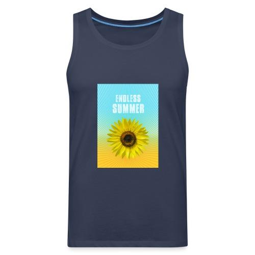 sunflower endless summer Sonnenblume Sommer - Men's Premium Tank Top