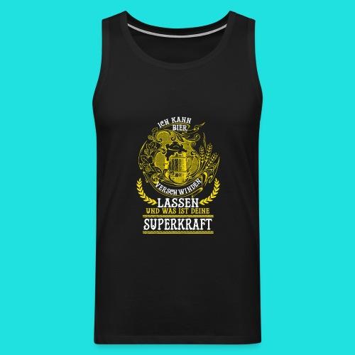 Bier Superkraft - Männer Premium Tank Top