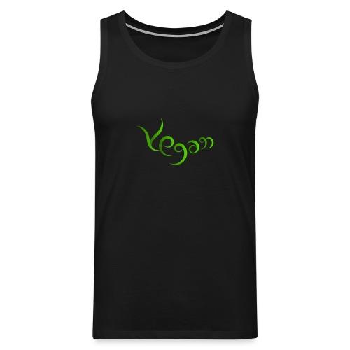 Vegaani käsinkirjoitettu design - Miesten premium hihaton paita