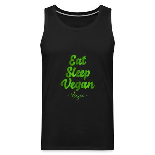 Eat Sleep Vegan - Miesten premium hihaton paita
