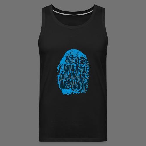Fingerprint DNA (blue) - Men's Premium Tank Top
