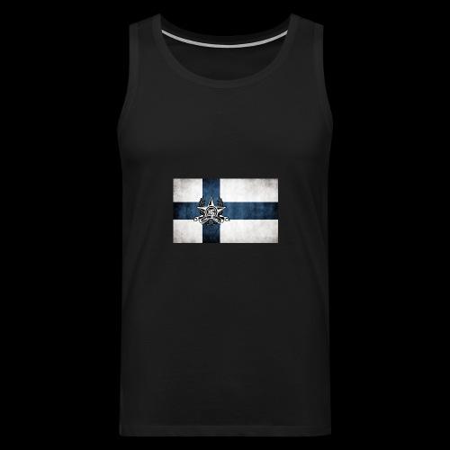 Suomen lippu - Miesten premium hihaton paita