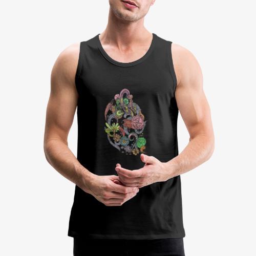 Flower Power - Rough - Premiumtanktopp herr