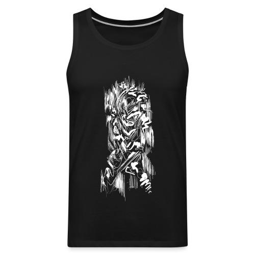 Samurai / White - Abstract Tatoo - Men's Premium Tank Top