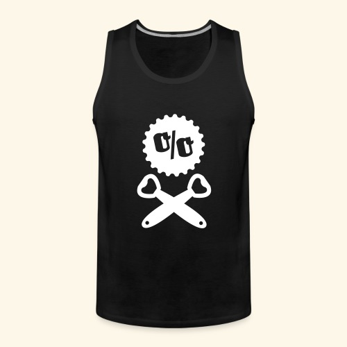 Bier T Shirt Design Piratenflagge - Männer Premium Tank Top