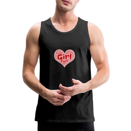 Girl heart - Mannen Premium tank top