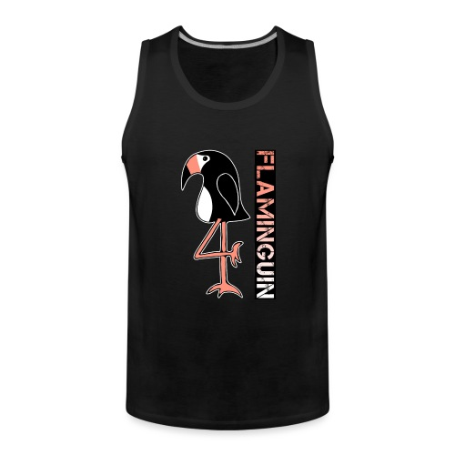Pinguin Flamingo Flaminguin - Männer Premium Tank Top