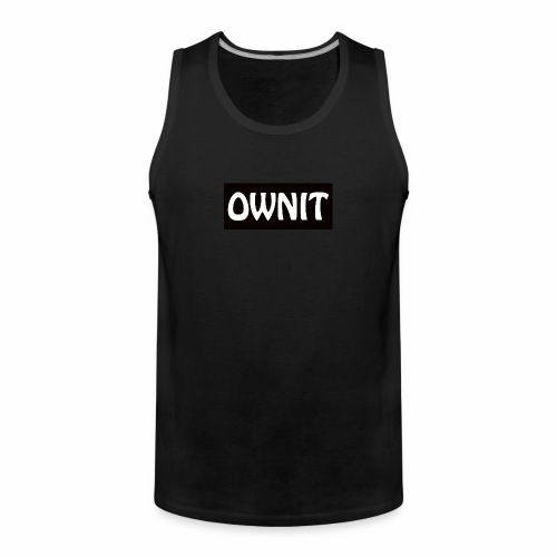 OWNIT logo - Men's Premium Tank Top