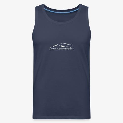 SUP logo valkea - Miesten premium hihaton paita