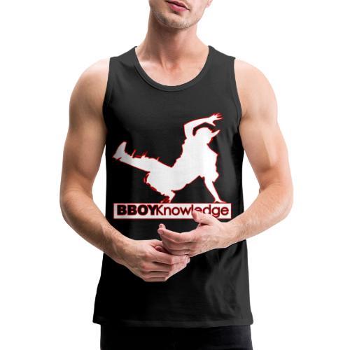 Bboy Knowledge Logo Variation Red&White - Débardeur Premium Homme