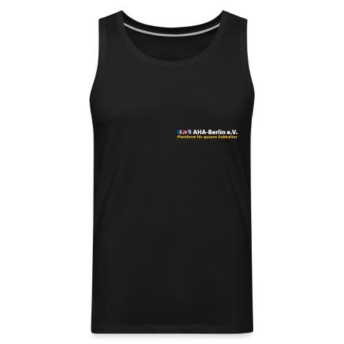 Logo flach für dunkle Shirts - Männer Premium Tank Top