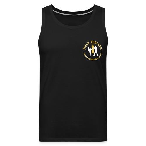 Logo MUAY THAI GYM Team Fuerstenland gold weiss - Männer Premium Tank Top