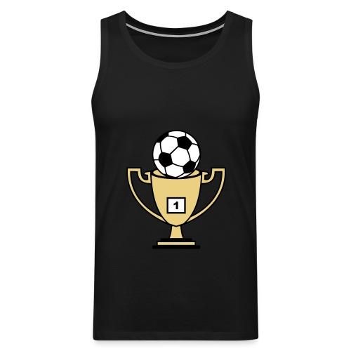 Pokal mit Fussball - Männer Premium Tank Top