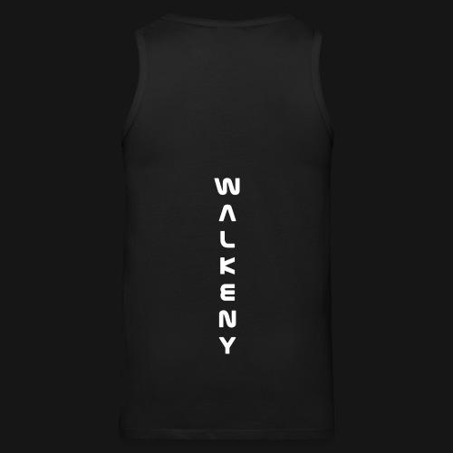 Walkeny Schriftzug vertikal in weiß - Männer Premium Tank Top