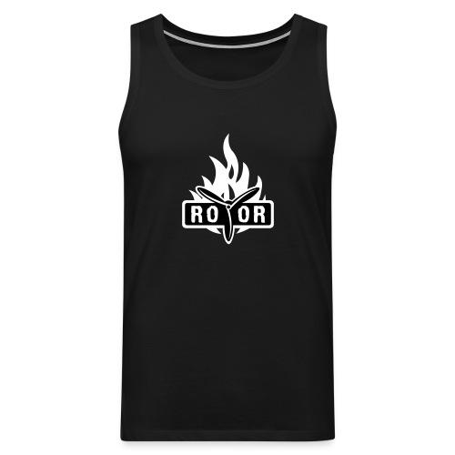 ROTOR Band Logo Fire - Männer Premium Tank Top