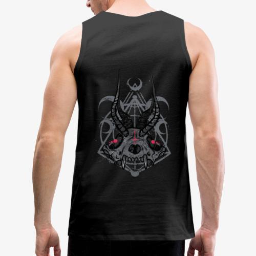 Fox Skull Demonlord - wh Logo - Männer Premium Tank Top