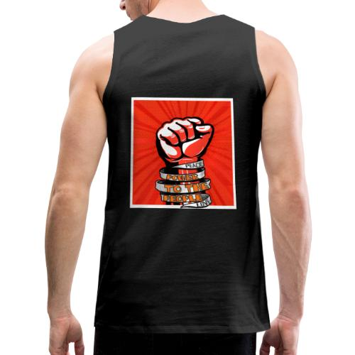 Power to the people - with peace and love protest - Men's Premium Tank Top