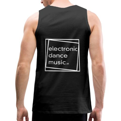 electronicdancemusic.at weiß - Männer Premium Tank Top