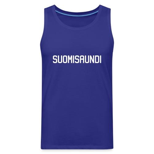 SUOMISAUNDI, hoodie - Miesten premium hihaton paita