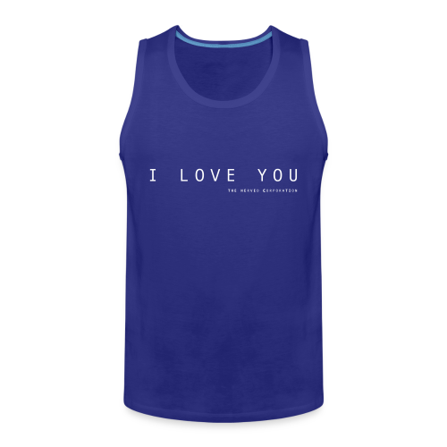 I Love You by The Nerved Corporation - Men's Premium Tank Top
