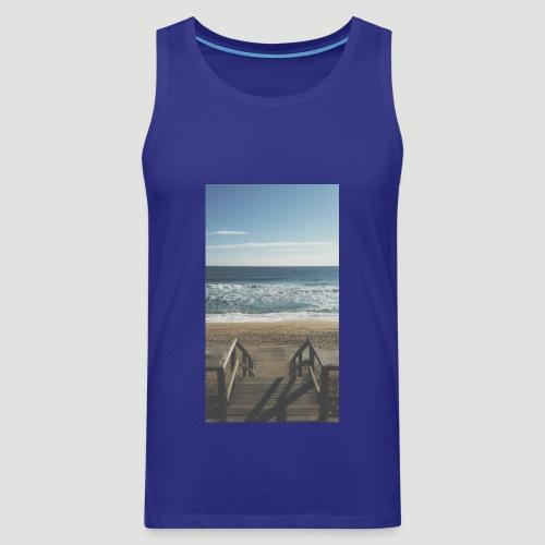 Escalera a la playa - Tank top premium hombre
