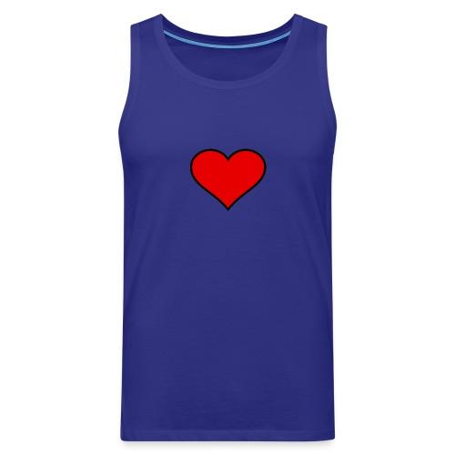 big heart clipart 3 - Premiumtanktopp herr