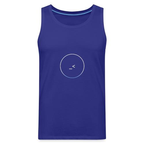 White and white-blue logo - Men's Premium Tank Top