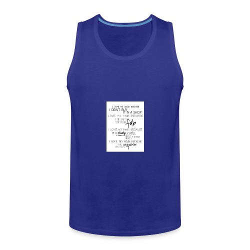 I LOVE MY HAIR - Men's Premium Tank Top