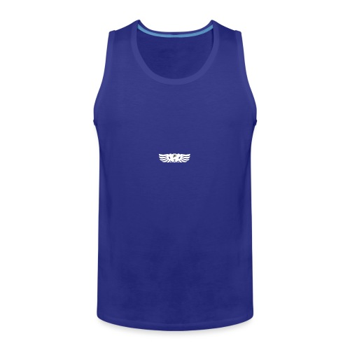 LOGO wit goed png - Mannen Premium tank top