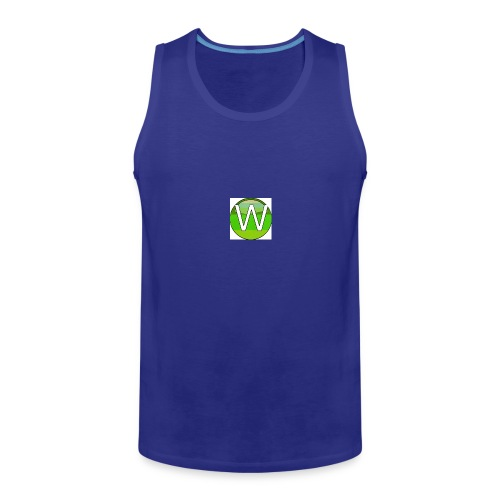 Alternate W1ll logo - Men's Premium Tank Top