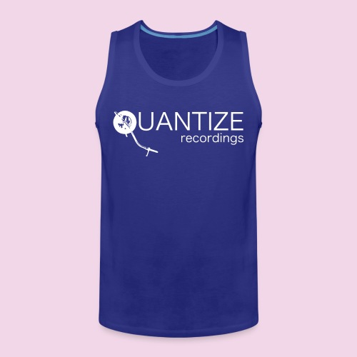 Quantize White Logo - Men's Premium Tank Top