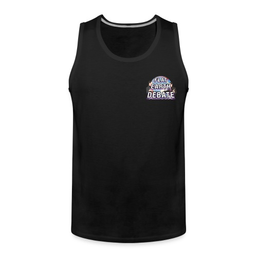 Flat Earth Debate Solid - Men's Premium Tank Top