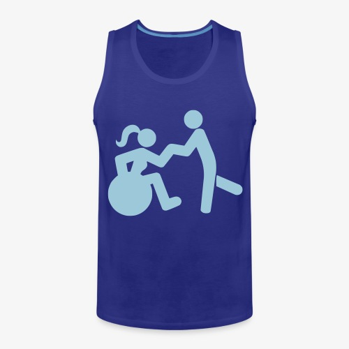 Afbeelding van vrouw in rolstoel die danst met man - Mannen Premium tank top