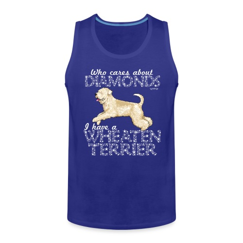 Wheaten Terrier Diamonds 4 - Men's Premium Tank Top