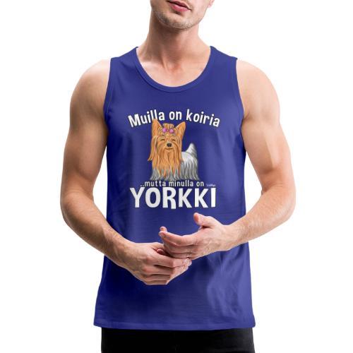 Yorkki Koiria - Miesten premium hihaton paita