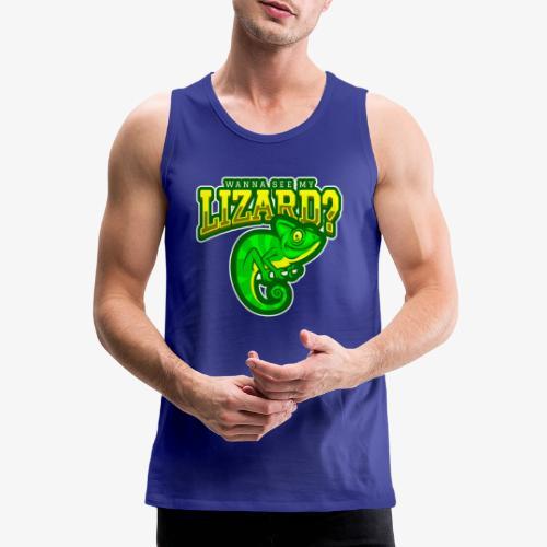 Wanna see Lizard - Miesten premium hihaton paita