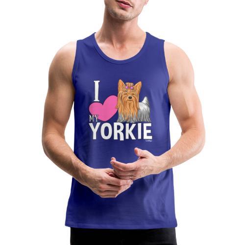 I love my Yorkie - Miesten premium hihaton paita