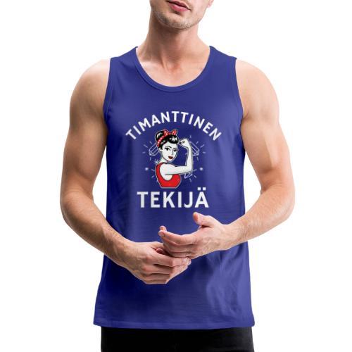 Timanttinen Tekijä - Miesten premium hihaton paita