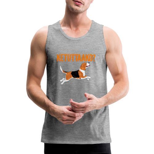 Ketuttaako Beagle - Miesten premium hihaton paita